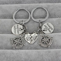 Creative Couples Keychain Heart Tag Key Ring Keyring Keyfob Friends Gifts AL