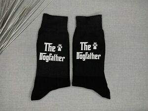 Dogfather Socks Vinyl Printed Men's Socks Gift from the Dog Father's Day