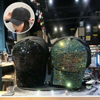 Glitter Rhinestone Hat Baseball Cap Sunscreen Women Men Hip-Hop Accessories
