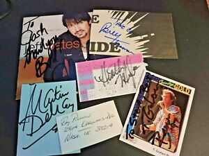 Country Music  Autograph Card , ticket Cd Cover Lot