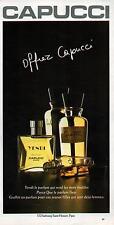 ▬► PUBLICITE ADVERTISING AD PARFUM PERFUME CAPUCCI Yendi 1978