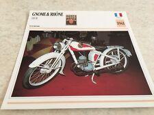 Carte moto Gnome & Rhône 100 R 1941 collection Atlas Motorcycle France