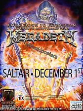 "MEGADETH ""COUNTDOWN TO EXTINCTION 20TH TOUR"" 2012 SALT LAKE CITY CONCERT POSTER"