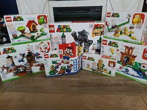 LEGO Super Mario BUNDLE LOT OF 7 !! STARTER PACK & EXPANSIONS