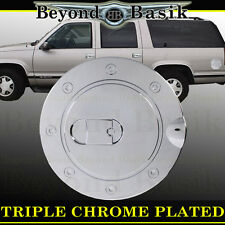 95-99 CHEVROLET TAHOE Triple ABS Chrome Fuel Gas Door Cover Cap Trim Overlay