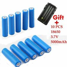 10pcs 18650 5000mAh 3.7V Rechargeable Li-ion Battery With Charger New LO