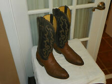 Men's NOCONA Cowboy Boots Chocolate Smooth Ostrich Skin  style 48351 Size 7.5 D