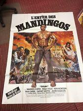 Large Vintage French Film Poster - l'enfer des mandingos / MANDINGO