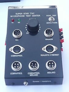 SUPERSTAR T747 CB MICROPHONE TESTER   mic checker super star