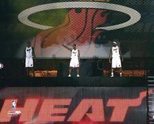 LEBRON JAMES - CHRIS BOSH - DWYANE WADE Miami Heat LICENSED picture 8x10 photo