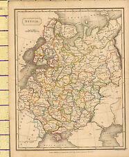 c1815 MAP ~ RUSSIA CRIMEA VOLHYNIA WARSAW VOLOGDA OLONETZ ~ HAND COLOURED