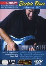 Lick Library Learn To Play Electric Blues Guitarra Escala acordes, riffs Dvd 1 & 2