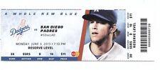 2013 LA DODGERS VS PADRES TICKET STUB YASIEL PUIG MLB DEBUT 1ST HIT 6/3/13