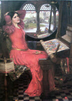 "Oil painting Waterhouse - ""I am Half-sick of Shadows"" Said the lady of Shalott"