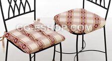 N. 4 CUSCINI COPRISEDIA TIROLESI DAMA ROSSO cuscino copri sedia cucina tirolese