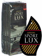 Areon Sport LUX Quality Perfume/Cologne Cardboard Car Air Freshener, Gold-12PK