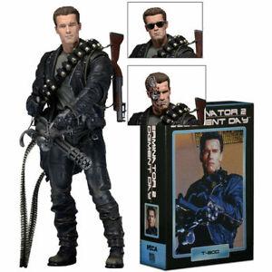 "NECA Terminator 2 Jüngster Tag T-800 Ultimate Deluxe Arnold 7"" Actionfigur Neu"