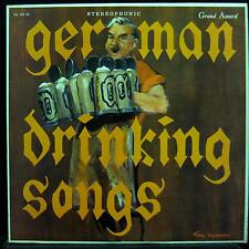 VARIOUS german drinking songs LP VG+ GA 250 SD Vinyl Tracy Sugarman Art