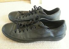 Converse All Star Black Leather shoes Mens 11 Womens 13 UK 11 Eur 45
