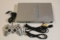 Sony PlayStation 2 PS2 Console SCRATCHED SCPH-50000 Silver AV/AC Japan 2PC20M