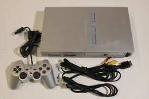 Sony PlayStation 2 PS2 Console SCRATCHED SCPH-50000 Silver Bundle Japan 2PC20M
