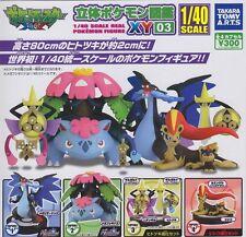 Yujin Takara Tomy Pokemon 1/40 Zukan XY 03 Figure Full Set of 8 pcs