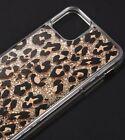 "iPhone 12 Pro Max (6.7"") - Gold Water Glitter Liquid Rubber Case Leopard Cheetah"