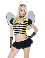 Sweet As Honey Sexy Bumble Bee Womens Insect Halloween Lingerie Costume Set