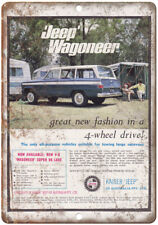 "Jeep Wagoneer Kaiser Jeep Vintage Ad 10"" x 7"" Reproduction Metal Sign A100"