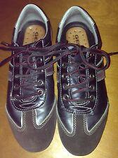 Scarpe Shoes Uomo  marca Geox in Pelle e Camoscio marrone e Neron.37