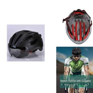 Bike Helmet Bike Cycling Goggles Mountain Outdoor Riding Road Safety Practical