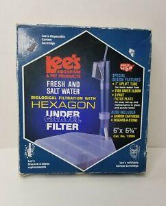 "Lees Aquarium Biological Filtration With Hexagon Under Gravel Filter 6"" X 6 3/4"""