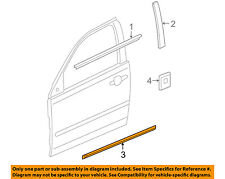 Pontiac GM OEM 05-10 G6 FRONT DOOR-Body Side Molding Right 89024126
