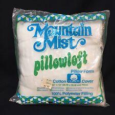 "VTG Mountain Mist Pillowloft 12"" Square Pillow Form Insert Stuffer Cushion NOS"
