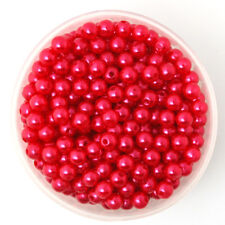 Lot 50 Perle imitation 6mm Rouge Pour vos creation Bijoux, Collier, Bracelet