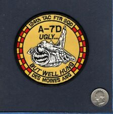 124th TFS IOWA ANG Vought A-7D CORSAIR USAF Fighter Squadron Patch