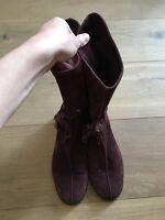 JIMMY CHOO Flat Suede Shearling Rabbit Fur Lined Boots EU 39.5 US 9.5 UK 6.5 7