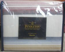 3 Pc Pendleton Copperstone Striped King Duvet Comforter Cover + Shams New
