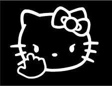 Decal Vinyl Truck Car Sticker - Hello Kitty F You Flip Off funny Bumper Window