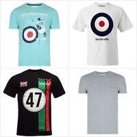 Men's Lambretta T-shirt Short Sleeve Logo Target Mod Crest Scooter Tees RRP £25