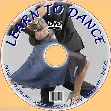 Imparare a fare sale da ballo danza DVD FOXTROT SALSA TANGO LATINO ETC semplici lezioni