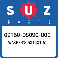 09160-08090-000 Suzuki Washer(8.5x14x1.6) 0916008090000, New Genuine OEM Part