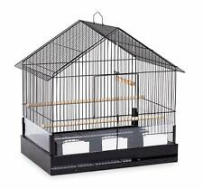 "Lincoln House-Style Cockatiel Bird Cage 23"" w/ 2 Perches 3 Feed Cups Seed Guard"
