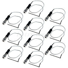 """10 Sets 1/4"""" Stereo End Pin Jack Piezo Pickup Under Saddle Passive For Guitar"""