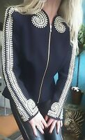 "Sass & Bide ""Art Versus Science"" Embellished Jacket sz 42 (12)"