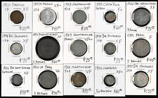 15 Old Mexico & Latin/South America Coins (1783-1922) Cat Value $1100 > No Rsrv