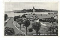 Postcard Drakes Island and the Hoe Plymouth Devon unposted      (A25)