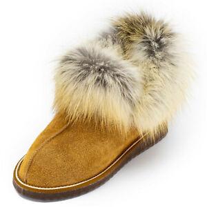 Ankle Boot Suede With Sheepskin & Fox Prestigious Gift Woman Fashion