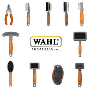 Wahl Professional Dog Pet Grooming Tools Slicker Nail Clippers Brush Comb Apron