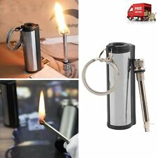 High quality Permanent Match Striker Torch Lighter with Key Chain Silver Metal W